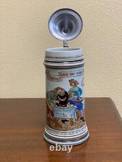 Antique Matthias Girmscheid German Hand Painted Beer Stein