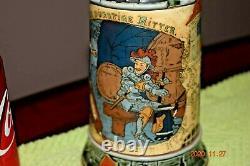 Antique Mettlach 2382 Thirsty Rider Etched German Beer Stein H. Schlitt Dtd 1898