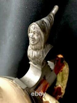 Antique Mettlach German Beer Pitcher Drinking Gnomes Master Stein 2183 3.25L