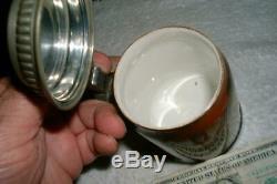 Antique Mettlach German Beer Stein- Flute Player-1/2 v 2793 Villeroy & Boch