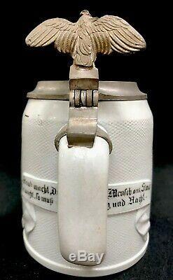 Antique Mettlach German Beer Stein The Artist 1642.5L Villeroy & Boch