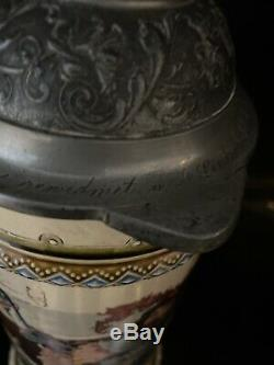 Antique Mettlach German Drinker Beer Stein 2176 95