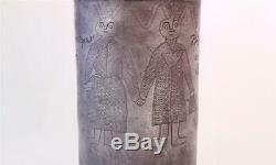 Antique Pewter German Beer Stein Walzenkrug Engraved Wedding Gift dat. 1821