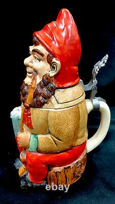 Antique Rosskopf And Gerz German Beer Stein Titled Gnome No 430.5 L
