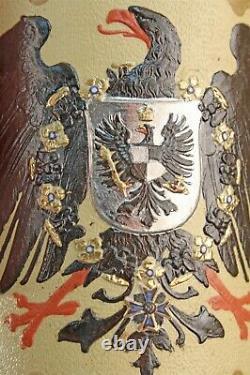Antique Villeroy & Boch German Mettlach 2204 Imperial Eagle 1/2 Liter Beer Stein