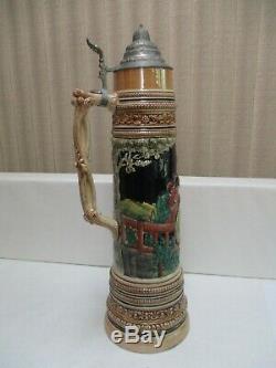 Antique/Vintage German Beer Stein Large 5 Liter 23 1/2'' Tall