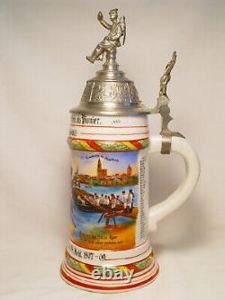 Antique Vintage Regimental German Pionier Beer Stein Military Pre-WWI Baden