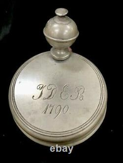 Antique Walzenkrug Faience Hannover Munden German Beer Stein Circa 1790
