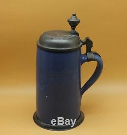 Antique ca. From 1830 Faience German Beer Stein jar jug mug pitcher Germany old