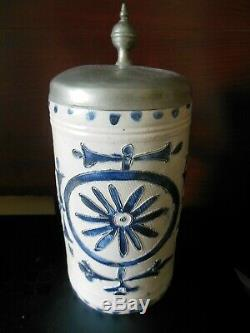 Antique over 200 years old from the late 1700s Westerwald German beer stein