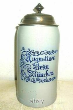 Augustiner Brau Munich Oktoberfest 2015 lidded Masskrug German Beer Stein