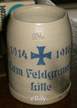 BEER STEIN WW1 1st WORLD WAR GERMAN 1916