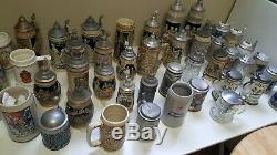 Beer stein collection ceramarte merz German glass huge beer lot