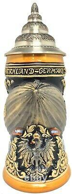 Cobalt Zeppelin Blimp Airship LE Relief German Beer Stein. 75 L Made in Germany
