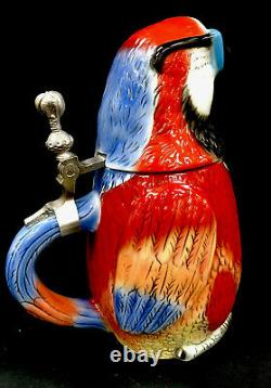 Corona Extra Parrot Beer Stein Limited Edition German Hand Painted. 75 Liter