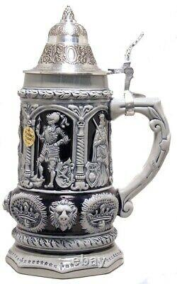Emperor Charles King LE Relief German Beer Stein. 75 L Handcrafted in Germany