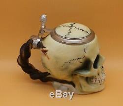 Ernst Bohne Söhne / Stahl Character German Beer Stein fraternity Skull & Bones