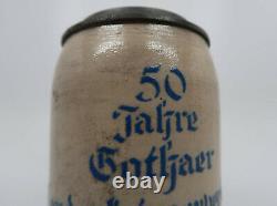Franco Prussian Imperial German WW1 vintage antique cermic beer mug stein NAMED
