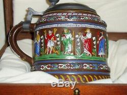 GERMAN Gerz Apostle Creussen Beer Stein 818/5000 limited TANKARD STEIN