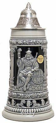 Gambrinus King of Beers LE Blue Relief German Beer Stein. 75L Made in Germany