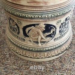 German 4-Foot Authentic Lidded Beer Stein Extremely Rare