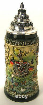 German Beer Stein German City Maps