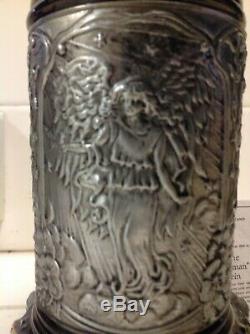 German Beer Stein Mug Arcangel Michael Limited Edition 236 Of 5000