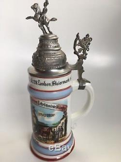 German Beer Stein Mug Reservistenkrug Lehrschmiede Müchnen 1939 Steiermark