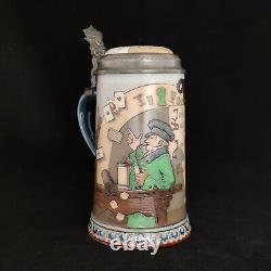 German Beer Stein Villeroy & Boch Mettlach #2090 (Q0138)