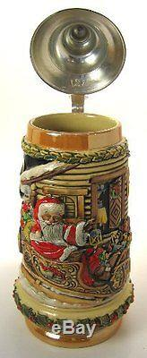 German Christmas Beer Stein Frohe Weihnachten