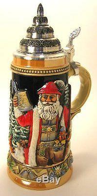 German Christmas Beer Stein Santa Silent Night