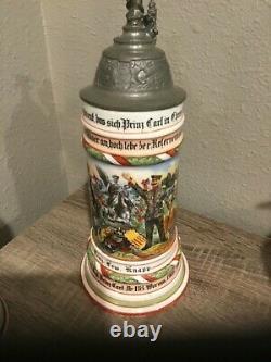 German Imperial Hessian Infanterie-Regiment 118 Prinz Carl beer stein Worms 1905