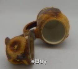 German Mettlach Villeroy & Boch beer stein #2036 0,5 L stoneware Owl signed Hein