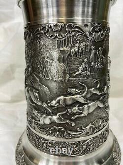 German Pewter Beer Stein 1 Litter Artina #11360 New