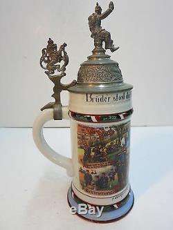 German Regimental Military Beer Stein 5 Garde Regt. Zu Fuss Spandau 1911-13