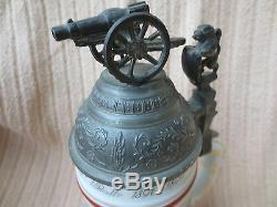 German Regimental Military Beer Stein Feld Artillerie Regt. Luitpold 1 Bath 1896