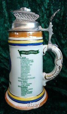 German Regimental Stein Beer US Army 2nd Cavalry 2nd ACR Lithophane Cold War