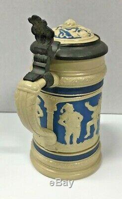 German Relief Villeroy & Boch Mettlach Beer Stein #2247, 0.3L Peasant Dance
