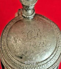 German Westerwald 0.5L Saltglaze Beer stein with Ornate Lid c. 1822