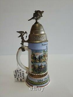 German antique beer stein 1. Battr. 3. Garde Feld Art. Rgt. Berlin 1907-09