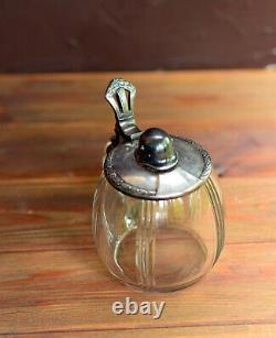 German lidded Beer stein mug WMF glass Stahlhelm Helmet M-16 WW1