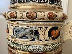 Gerz 8 Gallon German Lidded Beer Stein World's Largest German Beer Stein Gift