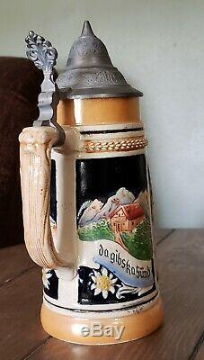 Gerz german beer steins vintage-set of 5