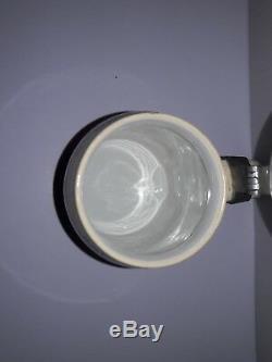 Geschutzt German Beer Stein #727 1909 Pewter Lid 1/2 Liter Bowling Scenes