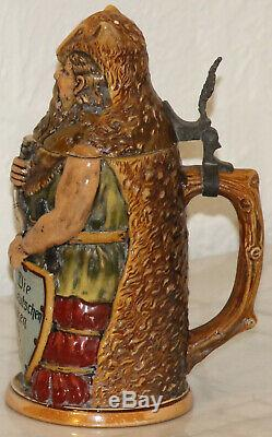 Girmscheid 1/2L German Warrior German Character beer stein mold # 1165 Antique