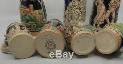 HUGE Lot of 11 VTG German Pewter Lidded Beer Steins Various Sizes West Germany