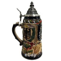 History of the German Eagle with Pewter Emblem LE Stoneware Beer Stein 1 L