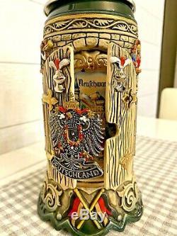 King Window to Neuschwanstein Castle Deutschland German Beer Stein. 75L w COA