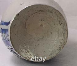 Large Antique German Stoneware Westerwald Etched Beer Stein/Pitcher c. 1840s