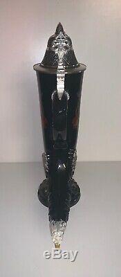 Limited Edition 97% Painted Pewter Eagle Black German Horn Beer Stein Mug